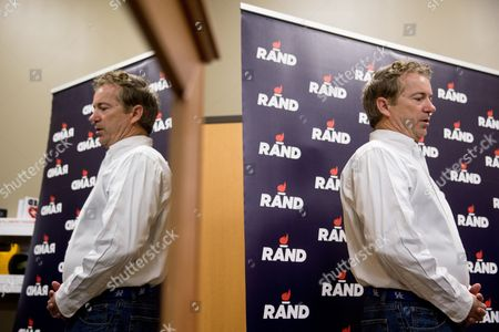 Rand Paul Republican presidential candidate Sen. Rand Paul, R-Ky., pauses while speaking after firing an AR-15 rifle at Crossroads Shooting Sports in Johnston, Iowa