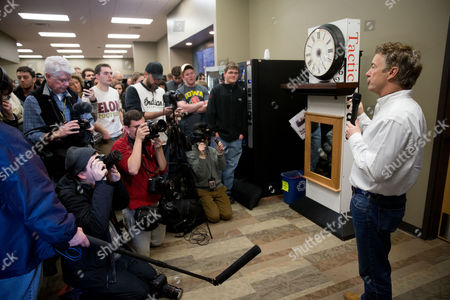 Rand Paul Republican presidential candidate Sen. Rand Paul, R-Ky., speaks after firing an AR-15 rifle at Crossroads Shooting Sports in Johnston, Iowa