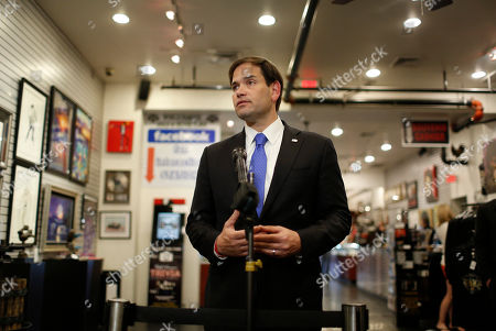 Marco Rubio Republican presidential candidate Sen. Marco Rubio, R-Fla., speaks with the media after touring the World Famous Gold & Silver Pawn shop with owner Rick Harrison, in Las Vegas. The shop is featured in the television show Pawn Stars