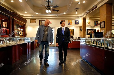 Marco Rubio, Rick Harrison Republican presidential candidate Sen. Marco Rubio, right, R-Fla., tours the World Famous Gold & Silver Pawn shop with owner Rick Harrison, in Las Vegas. Harrison is on the cast of the television show Pawn Stars