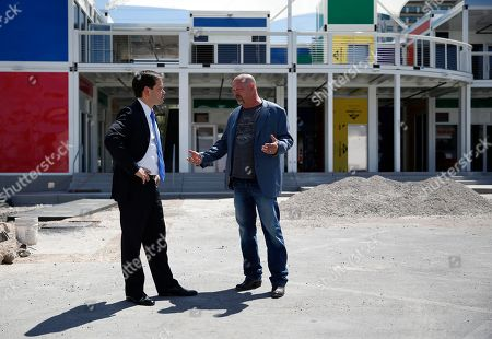 Marco Rubio, Rick Harrison Republican presidential candidate Sen. Marco Rubio, R-Fla., left, tours new construction next to the World Famous Gold & Silver Pawn shop with owner Rick Harrison, in Las Vegas. The shop is featured in the television show Pawn Stars