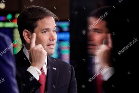 Marco Rubio Republican presidential candidate, Sen. Marco Rubio, R-Fla., talks during an interview with CNBC correspondent John Harwood at the New York Stock Exchange in New York