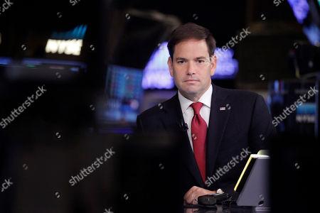 Editorial photo of GOP 2016 Rubio, New York, USA