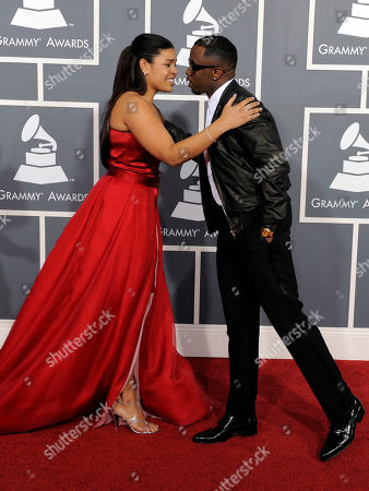 Jordan Sparks, Sean 'Diddy' Combs Jordan Sparks, left, and Sean 'Diddy' Combs arrive at the 53rd annual Grammy Awards, in Los Angeles