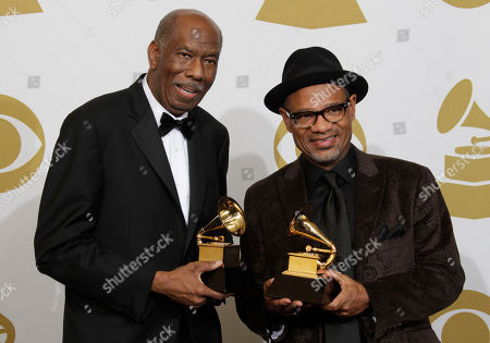 Jerry Peters, Kirk Whalum Jerry Peters, left, and Kirk Whalum pose backstage with the award for best gospel song at the 53rd annual Grammy Awards, in Los Angeles