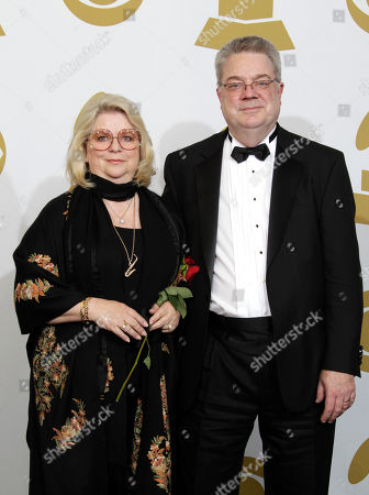Stock Photo of Linda Moody Linda Moody, left, and a guest are seen backstage at the 53rd annual Grammy Awards, in Los Angeles