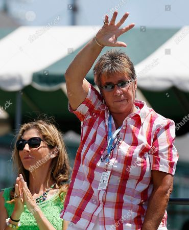 Rosie Casals, Monica Seles Rosie Casals waves next to Monica Seles during the induction ceremony at the International Tennis Hall of Fame in Newport, R.I