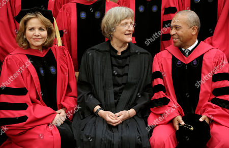 Renee Fleming, Drew Faust, Deval Patrick Soprano Renee Fleming, left, and former Massachusetts Gov. Deval Patrick, right, sit for a photograph with Harvard President Drew Faust, center, before Harvard University commencement exercises, in Cambridge, Mass. Fleming received an honorary Doctor of Music degree while Patrick received an honorary Doctor of Laws degree during the ceremonies