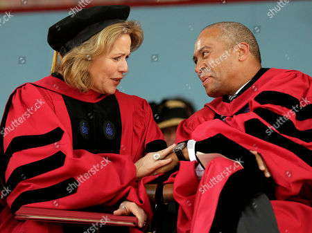 Renee Fleming, Deval Patrick Soprano Renee Fleming, left, and former Massachusetts Gov. Deval Patrick, right, talk during Harvard University commencement exercises, in Cambridge, Mass. Fleming received an honorary Doctor of Music degree while Patrick received an honorary Doctor of Laws degree during the ceremonies