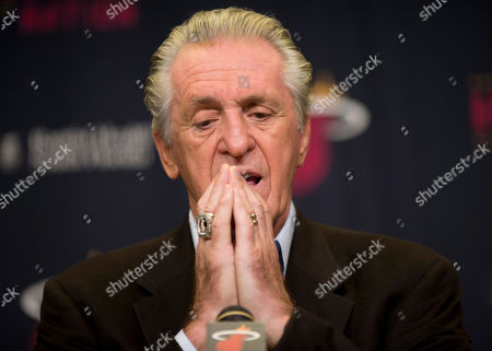 Pat Riley Miami Heat President Pat Riley talks to the media, in Miami. Riley expressed displeasure with himself and the Miami Heat organization for failing to make the playoffs for the first time in seven years