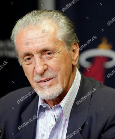 Stock Photo of Pat Riley Miami Heat president Pat Riley talks to reporters during a news conference, in Miami. Goran Dragic has signed his five-year deal with the Miami Heat
