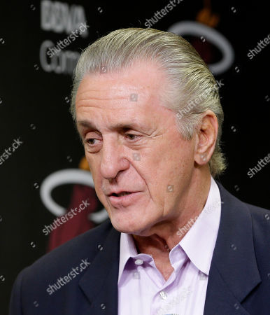 Pat Riley Miami Heat President Pat Riley introduces Shabazz Napier at a news conference in Miami, . The Heat acquired the draft rights to Connecticut guard Shabazz Napier in a trade with the Charlotte Hornets on Thursday night, giving up the 26th and 55th picks to make the deal happen, along with a future second-round choice and cash considerations