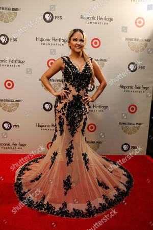 Kat de Luna Kat de Luna arrives on the red carpet before the Hispanic Heritage Awards, at the Warner Theater, in Washington