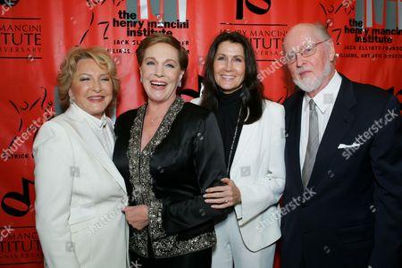 Ginny Mancini, Julie Andrews, Monica Mancini and John Williams