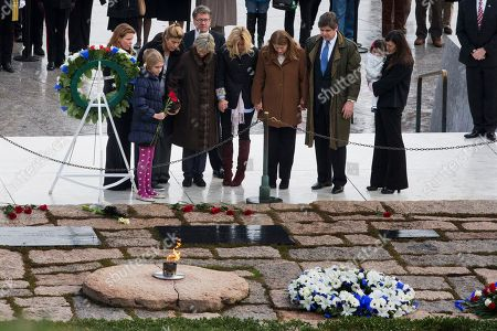 Jean Kennedy Smith Members of the Kennedy family, including former US Ambassador to Ireland Jean Kennedy Smith, fourth from left, hold hands as they pay their respects at the gravesite of President John F. Kennedy, at Arlington National Cemetery in Arlington, Va., on the 50th anniversary of Kennedy's death