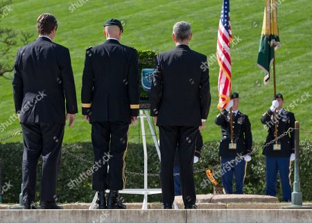 William Kennedy Smith, Darsie D. Rogers, John McHugh From left, William Kennedy Smith, Brig. Gen. Darsie D. Rogers, and Army Secretary John McHugh, stand before a wreath in the shape of a Green Beret at Arlington National Cemetery, in Arlington, Va., during a U.S. Army Special Forces Command (Airborne) commemorative President John F. Kennedy Wreath Laying Ceremony at the JFK grave site