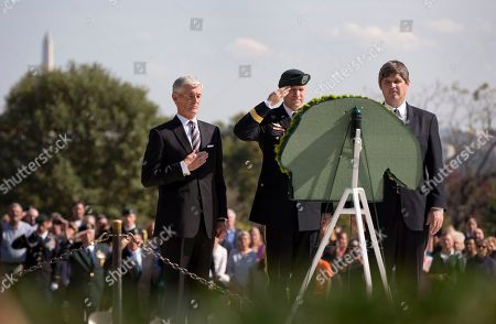 William Kennedy Smith, Darsie D. Rogers, John McHugh From left, Army Secretary John McHugh, Brig. Gen. Darsie D. Rogers, and William Kennedy Smith, stand before a wreath in the shape of a Green Beret at Arlington National Cemetery in Arlington, Va., during a U.S. Army Special Forces Command (Airborne) commemorative President John F. Kennedy Wreath Laying Ceremony at the JFK grave site