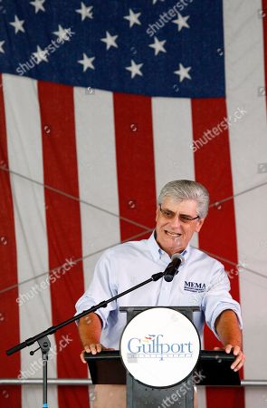 Phil Bryant Mississippi Gov. Phil Bryant recounts the difficult days on the Gulf Coast following Hurricane Katrina at a First Responders Remembrance salute in Gulfport, Miss. Former President George W. Bush, joined former Gov. Haley Barbour and a number of federal lawmakers in honoring the first responders with a concert and lunch