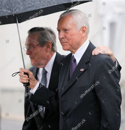 Orin Hatch Sen. Orin Hatch, D-Utah, leaves the John F. Kennedy Presidential Library in Boston on the way to the funeral Mass