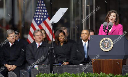 Victoria Reggie Kennedy, Ted Kennedy, Jr., Michelle Obama, Barack Obama, Trent Lott Victoria Reggie Kennedy, speaks during the dedication of the Edward M. Kennedy Institute for the United States Senate, honoring her late husband, in Boston. Former Sen. Trent Lott, R-Miss., left to right, Connecticut state Sen. Ted Kennedy, Jr., son of Edward M. Kennedy, First Lady Michelle Obama and President Barack Obama listen
