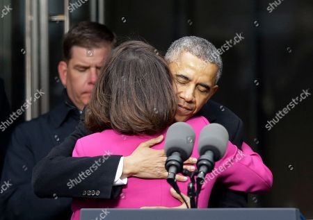 Barack Obama, Victoria Reggie Kennedy President Barack Obama hugs Victoria Reggie Kennedy, former Sen. Ted Kennedy's widow, during the dedication of the Edward M. Kennedy Institute for the United States Senate, in Boston