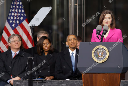 Victoria Reggie Kennedy, Ted Kennedy, Jr., Michelle Obama, Barack Obama Victoria Reggie Kennedy, speaks during the dedication of the Edward M. Kennedy Institute for the United States Senate, honoring her late husband, in Boston. Connecticut state Sen. Ted Kennedy, Jr., son of Edward M. Kennedy, left to right, First Lady Michelle Obama and President Barack Obama listen