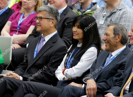 Gary Locke, Mona Locke Former Washington Gov. Gary Locke, left, a former US ambassador to China, and former Commerce Secretary, sits with his wife Mona, center, as they listen to a speech about trade by Secretary of State John Kerry, at Boeing's 737 assembly facility in Renton, Wash