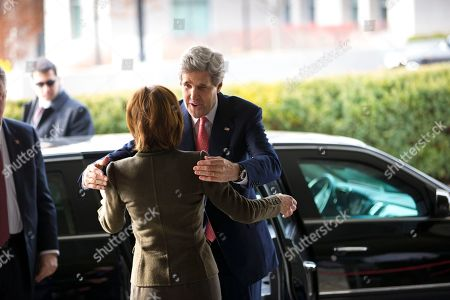 John Kerry, Capricia Marshall Secretary of State John Kerry is greeted by Chief of Protocol Capricia Marshall as he arrives for work at State Department in Washington, . The former chairman of the Senate Foreign Relations Committee and presidential candidate, replaces Hillary Rodham Clinton as the top US diplomat