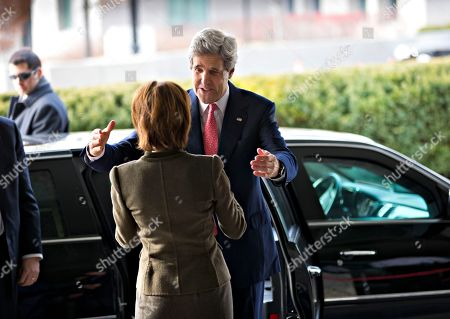 John Kerry, Capricia Marshall Secretary of State John Kerry is greeted by Chief of Protocol Capricia Marshall, left as he arrives for work at State Department in Washington, . The former chairman of the Senate Foreign Relations Committee and presidential candidate, replaces Hillary Rodham Clinton as the top US diplomat