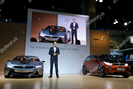 Adrian van Hooydonk Adrian van Hooydonk, senior vice president BMW group design, introduces the BMW i8 Concept, left, and the BMW i3 Concept coupe at the LA Auto Show in Los Angeles