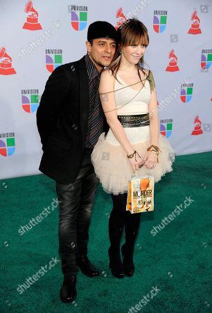 "Maria Barracuda, Jorge ""Chiquis"" Amaro Maria Barracuda, right, and Jorge ""Chiquis"" Amaro of the band JotDog arrive at the 11th Annual Latin Grammy Awards, in Las Vegas"