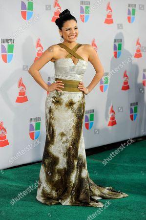 Karen Hoyos Karen Hoyos arrives at the 11th Annual Latin Grammy Awards, in Las Vegas