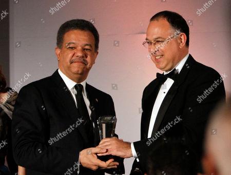 Leonel Fernandez, Richard Burns Dominican President Leonel Fernandez, left, receives Latin Trade Bravo's Lifetime Achievement Award from Richard Burns, Chairman of the Latin Trade Group in Miami