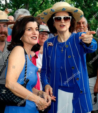 Jon Brotzman, Luci Johnson, Lynda Johnson Robb Luci Baines Johnson, left, and her sister, Lynda Johnson Robb talk during ceremonies to commemorate the 100th birthday of their father, former president Lyndon Baines Johnson at the family cemetery on the LBJ Ranch, located near Stonewall, Texas. A family spokesman says Luci Baines Johnson, the youngest daughter of former President Lyndon Johnson, is being treated at the Mayo Clinic for what doctors suspect is a rare autoimmune disorder that affects the nervous system
