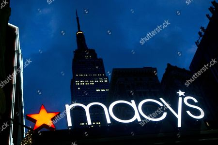 Macy's With the Empire State building in the background, the Macy's logo is illuminated on the front of the department store in New York. Macy's announced, its longtime CEO Terry Lundgren will leave the job in early 2017. He will be replaced by Macy's president Jeff Gennette