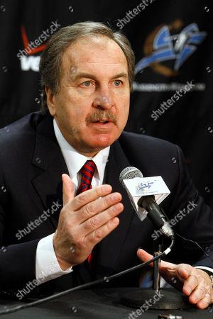 Ernie Grunfeld Washington Wizards President Ernie Grunfeld discusses trading Gilbert Arenas to the Orlando Magic in Washington, on