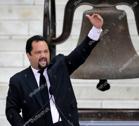 """Stock Photo of Benjamin Jealous NAACP President and CEO Benjamin Jealous speaks at the Let Freedom Ring ceremony at the Lincoln Memorial in Washington, to commemorate the 50th anniversary of the 1963 March on Washington for Jobs and Freedom. It was 50 years ago today when Martin Luther King Jr. delivered his """"I Have a Dream"""" speech from the steps of the memorial"""