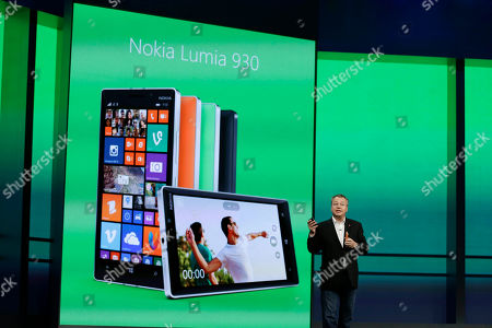 Stephen Elop Stepen Elop, executive vice president of Nokia introduces the new Nokia Lumia 930 phone during a keynote address of the Build Conference, in San Francisco. Microsoft kicked off its annual conference for software developers, with new updates to the Windows 8 operating system and upcoming features for Windows Phone and Xbox