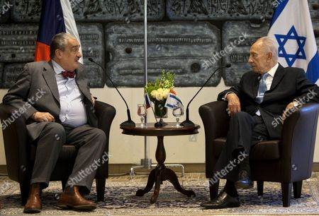 Shimon Peres, Karel Schwarzenberg Israel's President Shimon Peres, right, speaks with Czech foreign minister Karel Schwarzenberg during their meeting at the president's residence in Jerusalem, . Schwarzenberg is on a visit to the region