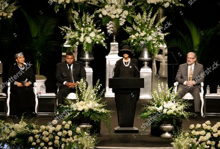 Muhammad Ali's wife Lonnie Ali speaks during his memorial service, in Louisville, Ky