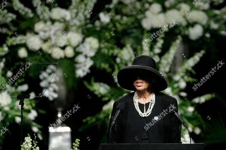 Muhammad Ali's wife Lonnie Ali speaks memorial service, in Louisville, Ky