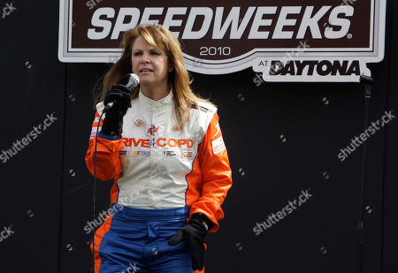 Patty Loveless Singer Patty Loveless performs before the start of the DRIVE4COPD 300 Nationwide auto race at Daytona International Speedway in Daytona Beach, Fla