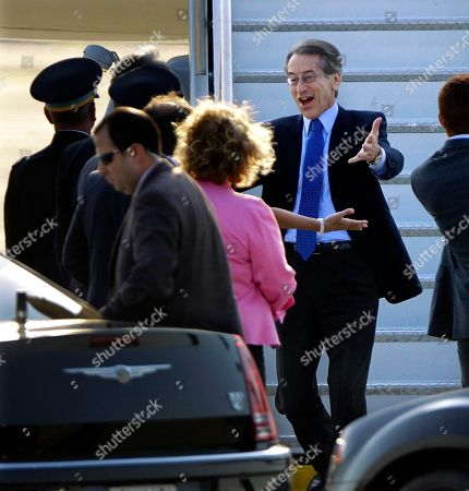 Italian Minister of Foreign Affairs Giulio Terzi di Sant Agata arrives at Chicago O'Hare International Airport to attend the NATO Summit in Chicago. Security has been high throughout the city in preparation for the summit, where delegations from about 60 countries will discuss the war in Afghanistan and European missile defense