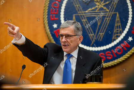 Tom Wheeler Federal Communications Commission (FCC) Chairman Tom Wheeler gestures as he speaks during an open hearing in Washington, . The FCC votes on a plan that would require Internet providers like Comcast, Verizon AT&T and others to act in the public interest when providing a mobile connection to your home or phone. The industry is widely expected to go to court to find the regulation, once approved
