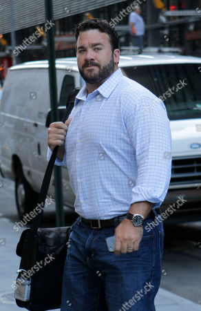 Stock Image of Robert Craft Indianapolis Colts player Jeff Saturday arrives at a Manhattan law firm in New York. With time running short to keep the NFL's preseason completely intact, owners and player representatives are back in force, trying again to work out a new labor deal