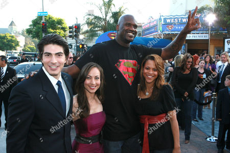 Brandon Routh, Courtney Ford, Shaquille O'Neal and wife Shaunie Nelson