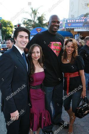 Brandon Routh, Courtney Ford , Shaquille O'Neal and wife Shaunie