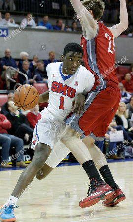 Shake Milton SMU guard Shake Milton (1) derives against Nicholls State center Liam Thomas (24) during the first half of an NCAA college basketball game, in Dallas