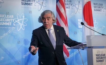 Ernest Moniz Energy Secretary Ernest Moniz speaks during a joint statement with Japan's Deputy Chief Cabinet Secretary Koichi Hagiuda after meetings at the Nuclear Security Summit in Washington