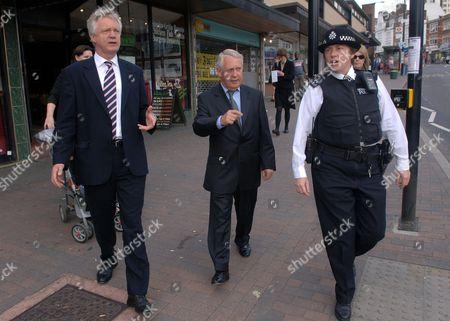 David Davis, Bob Neill, Conservative candidate for Bromley and police sergeant Amanda Weston